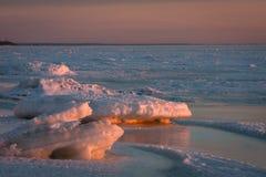 Mar congelado Fotos de archivo libres de regalías