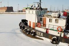 Mar congelado (Helsinki, Finlandia) foto de archivo