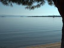 Mar Costa de Grecia Fotografía de archivo