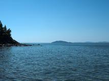 Mar Costa de Grecia Fotografía de archivo libre de regalías