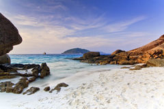 Mar crepuscular Fotografia de Stock Royalty Free