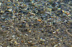 Mar cristalino en el mar Mediterráneo Imagen de archivo libre de regalías