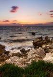 Mar Croatia do por do sol Fotos de Stock Royalty Free