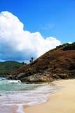 Mar da areia da praia imagens de stock