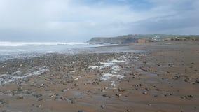 Mar da baía de Widemouth Fotografia de Stock