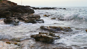 Mar da costa Fotos de Stock Royalty Free