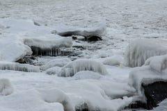 Mar da crosta de gelo Imagens de Stock
