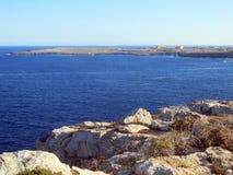 Mar da ilha de LAMPEDUSA em Itália foto de stock