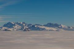 Mar da névoa Imagem de Stock