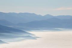 Mar da névoa imagens de stock royalty free