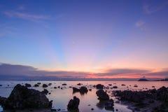 Mar da noite fotos de stock royalty free
