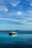 Mar da noite de Ibiza Fotos de Stock Royalty Free