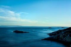 Mar da noite de Ibiza Foto de Stock