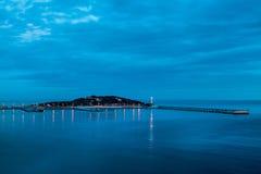 Mar da noite de Ibiza Foto de Stock Royalty Free