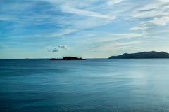 Mar da noite de Ibiza Imagens de Stock