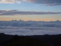 Mar da nuvem Imagens de Stock