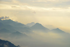 Mar da nuvem Fotografia de Stock Royalty Free