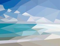 Mar da paisagem ilustração stock