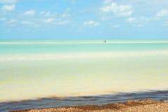 Mar das caraíbas da ilha de Holbox foto de stock