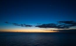 Mar das caraíbas - ilha de Granada - por do sol Fotos de Stock Royalty Free