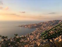 Mar das construções das montanhas da opinião de Sun City Imagem de Stock