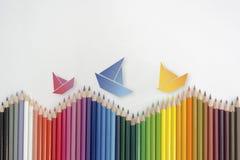 Mar das cores Imagens de Stock
