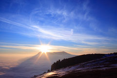 Mar das nuvens Fotos de Stock Royalty Free