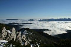 Mar das nuvens imagens de stock