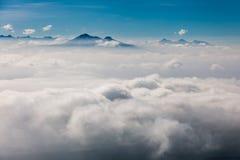 Mar das nuvens Fotografia de Stock