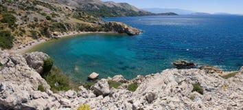 Mar de adriático. Croácia. Istria. Krk fotografia de stock