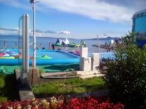 Mar de adriático de Opatija da cidade, Croácia Imagem de Stock