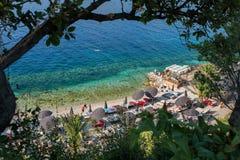 Mar de adriático - Dubrovnik Babin Kuk, Lapad, Croácia fotografia de stock
