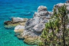 Mar de adriático e costa, Croácia Fotografia de Stock