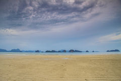 Mar de andaman bonito da praia no koh yao noi Imagem de Stock Royalty Free