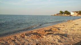 Mar de Azov, praia Fotografia de Stock Royalty Free