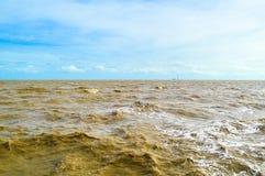 Mar de Bangpu em Samutprakan em Tailândia fotos de stock royalty free