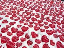 Mar de corazones Foto de archivo