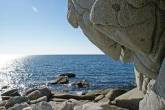 Mar de costa norte de Okhotsk fotografia de stock