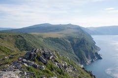 Mar de costa norte de Okhotsk imagem de stock royalty free