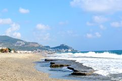 Mar de Cote d'Azur imagen de archivo libre de regalías