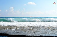 Mar de Cote d'Azur fotografía de archivo