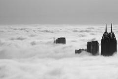 Mar de Dubai das nuvens fotografia de stock