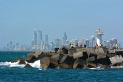 Mar de Gold Coast - Queensland Austrália Imagem de Stock