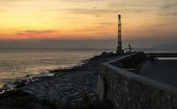 Mar de Grécia no muntain Imagem de Stock Royalty Free