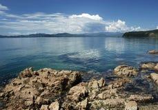 Mar de japão, Primorye, seascape Fotos de Stock Royalty Free