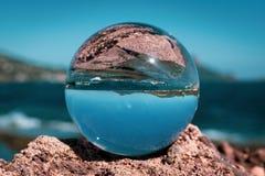 Mar de la bola de cristal fotografía de archivo libre de regalías