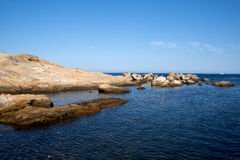 Mar de la isla de Giglio - Campese Fotos de archivo