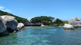 Mar de la isla de Nangyuan hermoso en Tailandia imagen de archivo libre de regalías