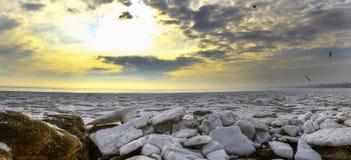 Mar de la masa de hielo flotante Imagen de archivo libre de regalías