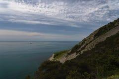 Mar de la montaña Novorossiysk Rusia 13 05 2017 Foto de archivo